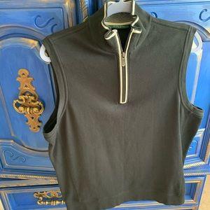 Bobby Jones Pullover Tank Large Zip Golf Top
